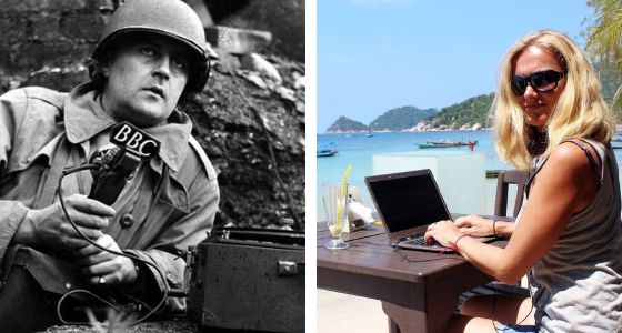 war reporter vs travel writer