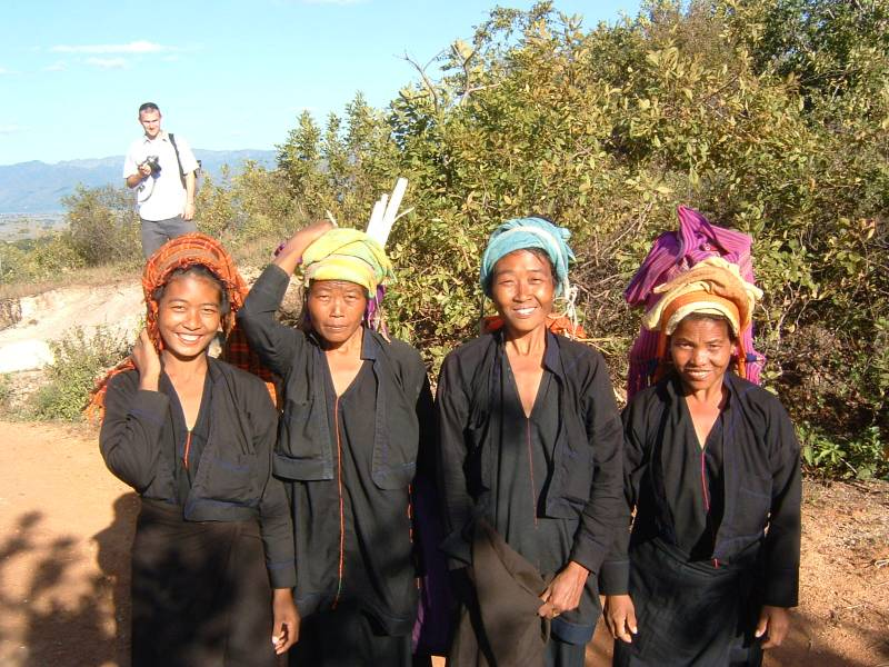 Traveling in Myanmar with tribeswomen